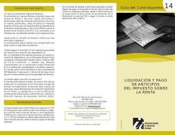 liquidación y pago de anticipos del impuesto sobre la renta