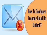 How to Configure Frontier Email on Outlook? 1-800-213-3740