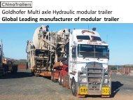 Goldhofer modular trailers for sale