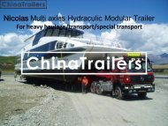 Nicolas modular trailers for sale