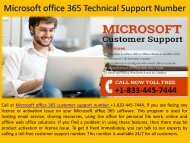 Microsoft office 365 Tech Support Number 1-833-445-7444
