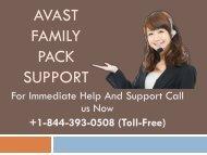 Avast Family Pack +1-844-393-0508