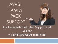 Avast Family Pack +1-844-393-0508