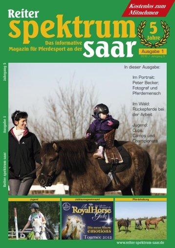 Reiter Spektrum Saar Ausgabe 1 2012