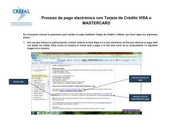 Proceso de pago electrónico con Tarjeta de Crédito VISA o ... - Crefal