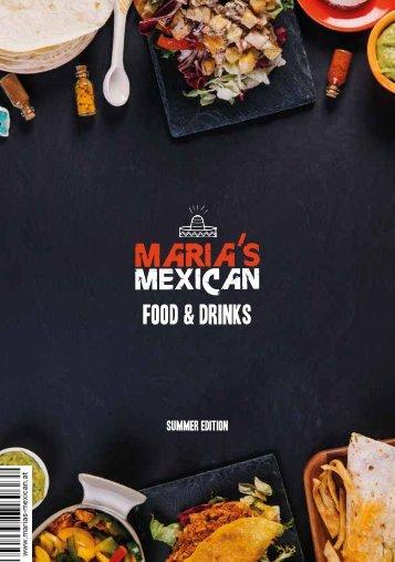 Marias Mexican Sommer Speisekarte
