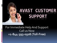 Avast Customer Support +1-844-393-0508