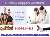 Outlook Support Australia 1-800-614-419|Fix All Issue