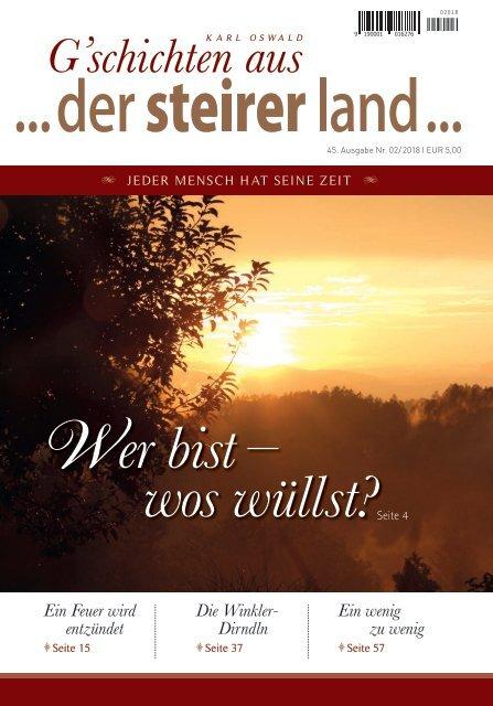 ...der steirer land ... Ausgabe 02/2018