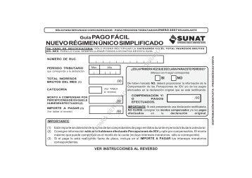 Guía PAGO FÁCIL NUEVO RÉGIMEN ÚNICO ... - sunat