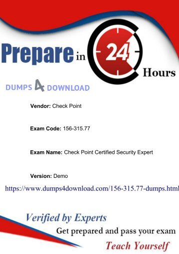 156-315.77 Dumps - Exam Questions Answers Braindumps - Dumps4download