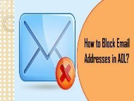 Block Email Addresses in AOL | Call AOL Support 1-800-361-7250