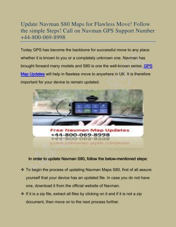 Navman Map Updates Navman GPS Map Updates dial +44 800 069 8998 Navman Map Updates