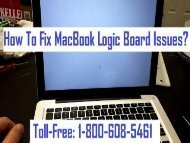 Call 1-800-608-5461 To Fix MacBook Logic Board Issues