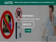 What are the steps to fix Kaspersky server activation error