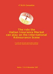The role the Italian Insurance Market can play on the ... - RIB