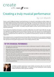 Creating a truly musical performance by Lin Marsh