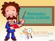 Mathematics Teacher in Rohtak