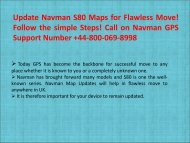 Update Navman S80 Maps for Flawless Move! Follow the simple Steps! Call on Navman GPS Support Number +44-800-069-8998 (1)