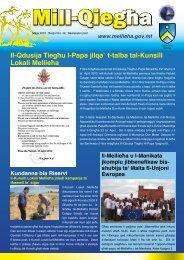 Il-Qdusija Tiegħu l-Papa jilqa` t-talba tal-Kunsill Lokali Mellieħa