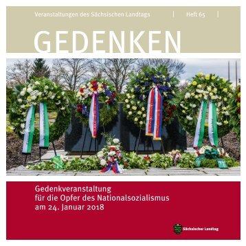 Gedenkveranstaltung für die Opfer des Nationalsozialismus am 24. Januar 2018