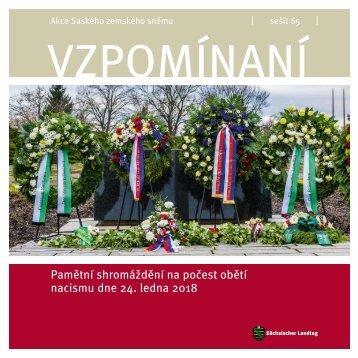 Pamětní shromáždění na počest obětí nacismu dne 24. ledna 2018