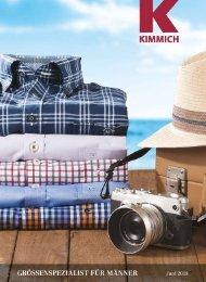 Kimmich Mode-Versand | Größenspezialist für Männermode | Juli / August 2018