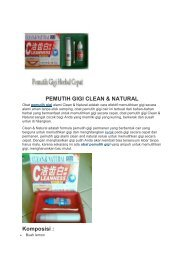 PEMUTIH GIGI CLEAN AND NATURAL