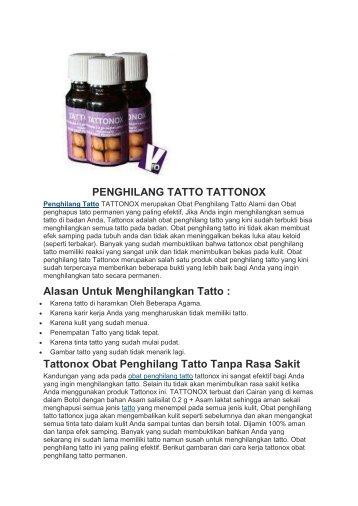 PENGHILANG TATTO TATTONOX