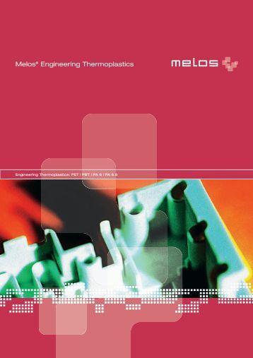 Broschüre Engineering thermoplastics - Melos GmbH