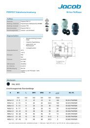 PERFECT Kabelverschraubung 50.6xx PA/Rzzzz - Jacob GmbH