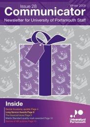 Communicator, Issue 28 (Winter 2009) - University of Portsmouth