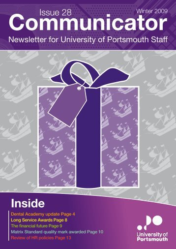 Communicator, Issue 28 (Winter 2009) - University of Portsmouth