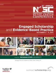 Download for the Printed Program - Engagement Scholarship ...