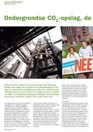 Ondergrondse CO2-opslag, de op één na beste oplossing - TNO
