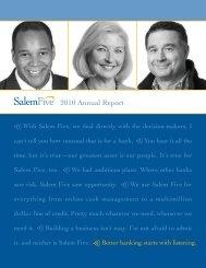 Financial Highlights - Salem Five