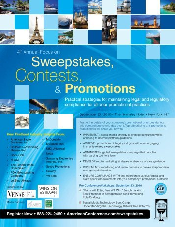 Promotions - American Conference Institute