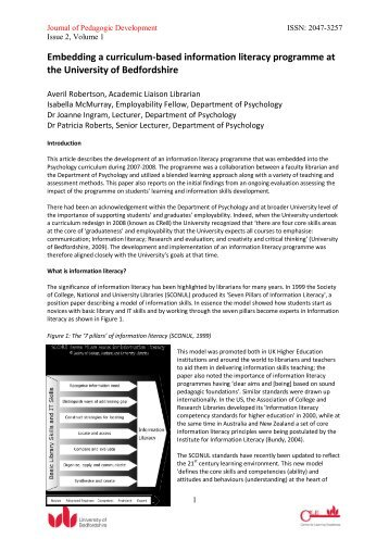 Embedding a curriculum-based information literacy programme at ...