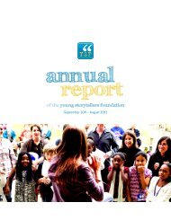 2011 YSF Annual Report - Young Storytellers Foundation