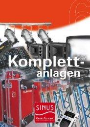 Kategorie: Komplettanlagen Licht & Ton - SINUS Event-Technik GmbH