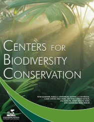 Center for Biodiversity Conservation - Conservation International