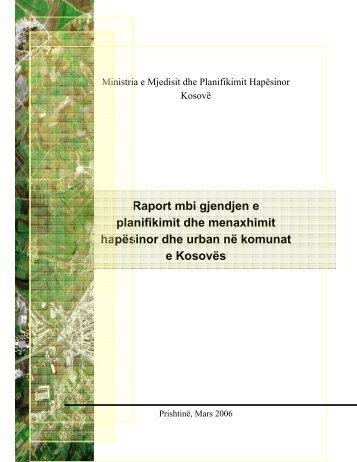 Raport mbi gjendjen e planifikimit dhe menaxhimit hapësinor dhe ...