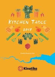 Teachers Resource Pack for the Kitchen Table project