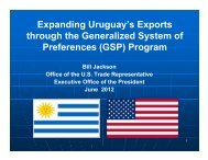Expanding Uruguay's Exports through the Generalized System of ...