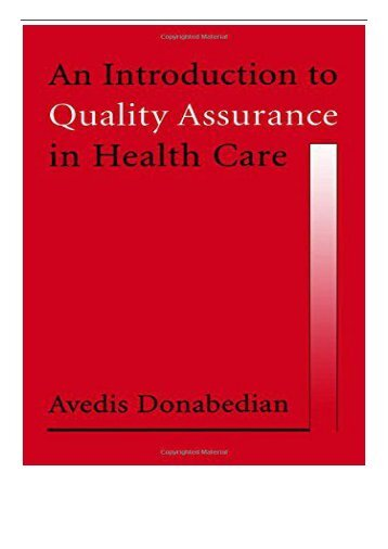 eBook An Introduction to Quality Assurance in Health Care Free books
