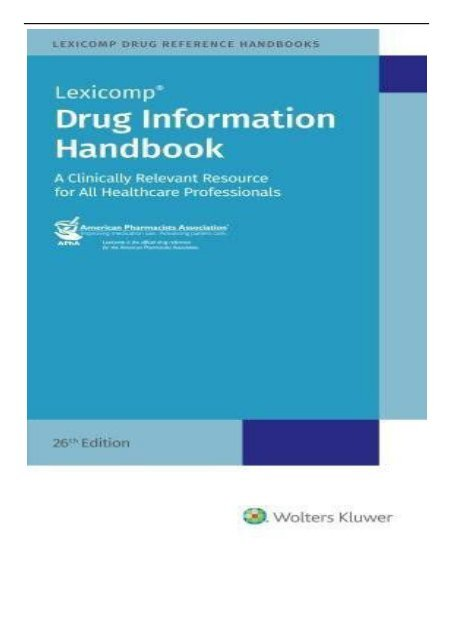 Lexicomp Drug Information Handbook Pdf