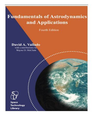 eBook Fundamentals of Astrodynamics and Applications Free online