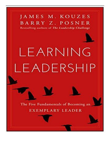 eBook Learning Leadership The Five Fundamentals of Becoming an Exemplary Leader Free books