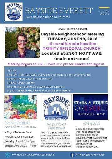 2018 June Bayside Everett Newsletter