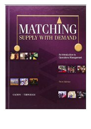eBook Matching Supply with Demand An Introduction to Operations Management Free books